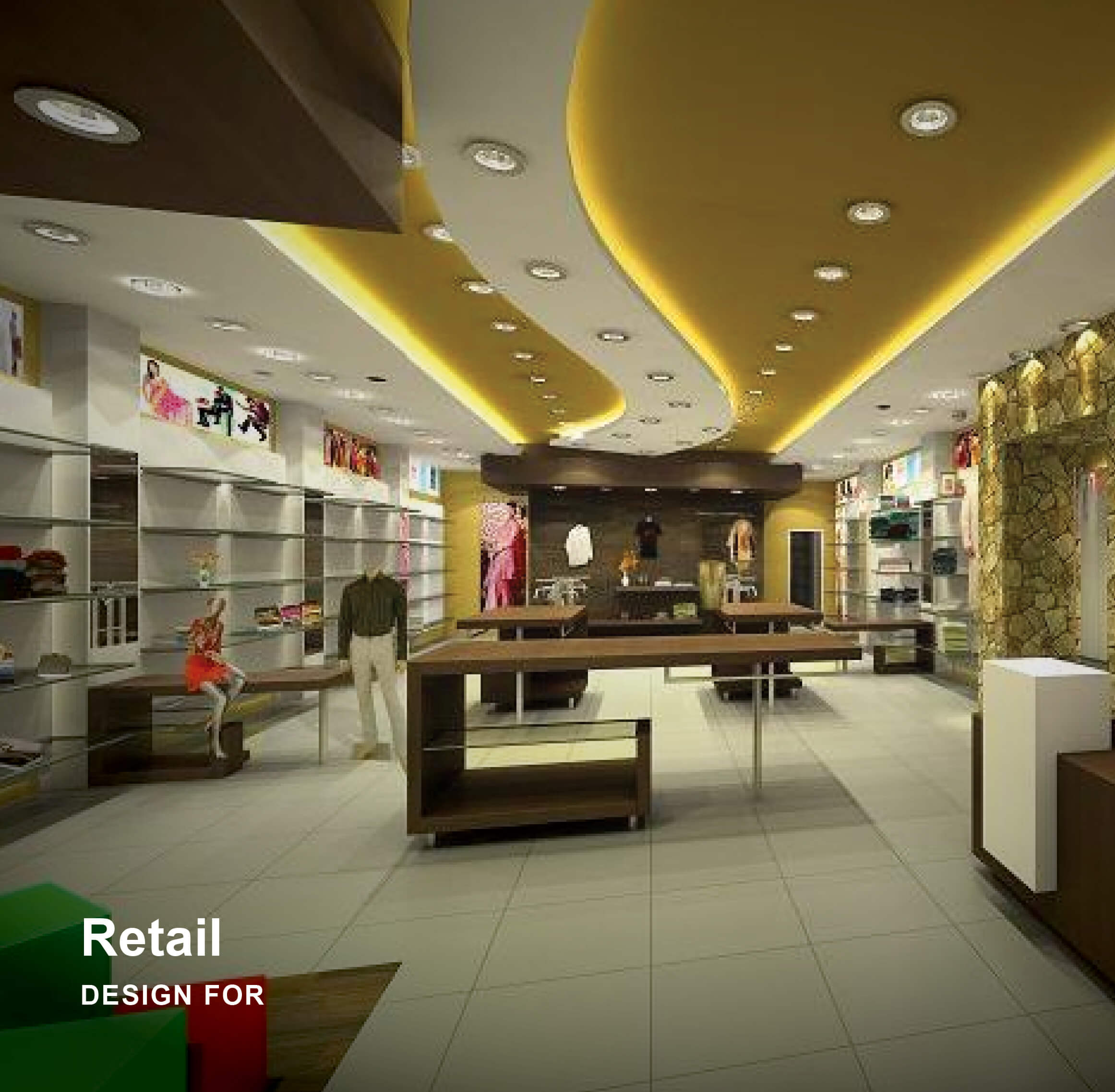 Interior architecture design of modern Clothing Store